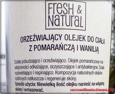 Orzeźwiający olejek do ciała