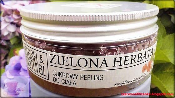 Peeling zielona herbata